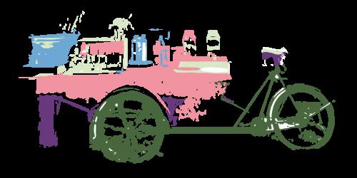 Bakfiets illustratie